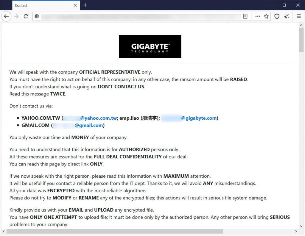 gigabyte attacco hacker ransomEXX