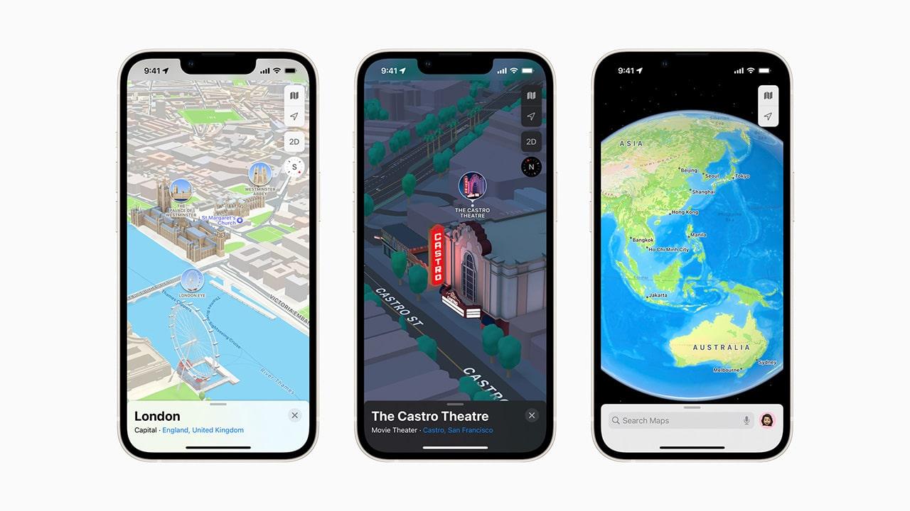 Mappe di Apple introduce la vista 3D in alcune città thumbnail