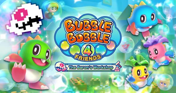 """Bubble Bobble 4 Friends """"The Baron's Workshop"""" arriva anche su Steam thumbnail"""