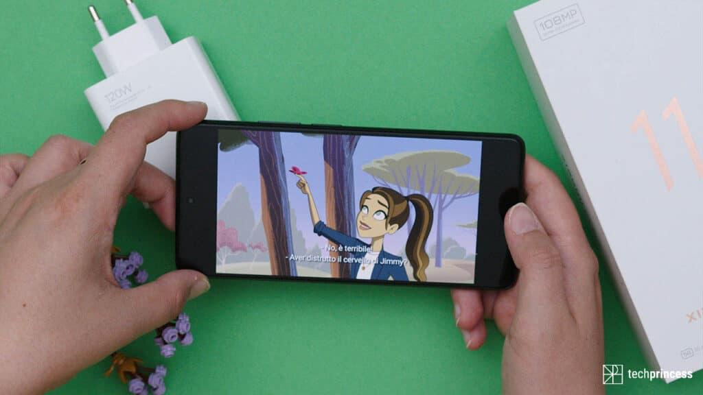 Xiaomi 11T pro recensione display