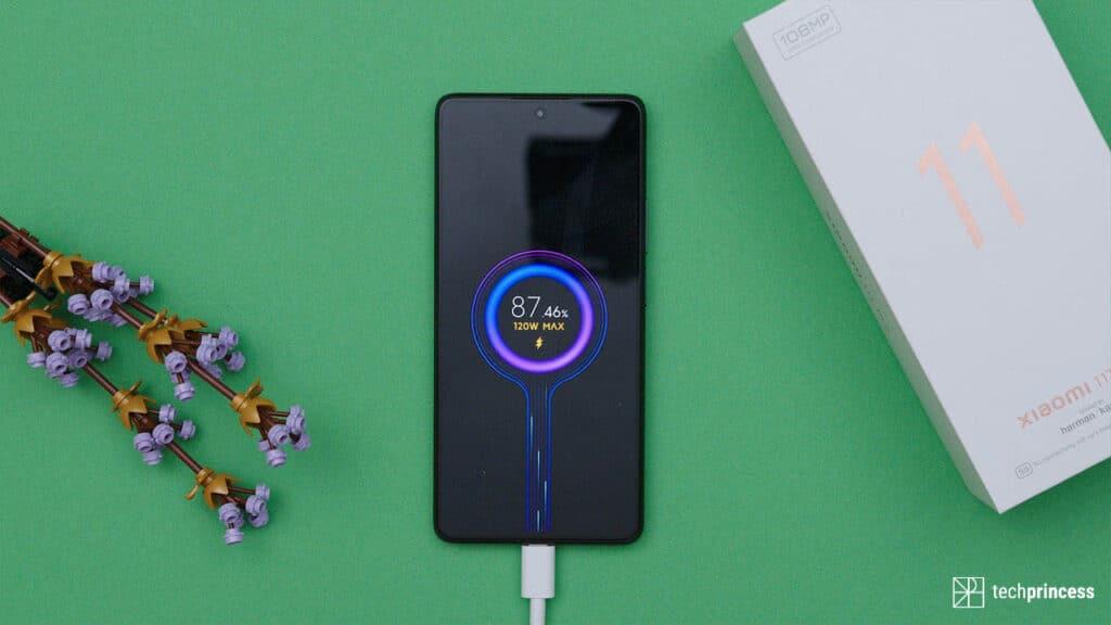 Xiaomi 11T Pro ricarica a 120 watt