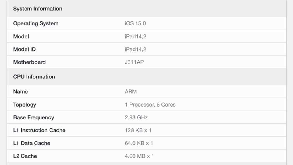 benchmark iPad mini