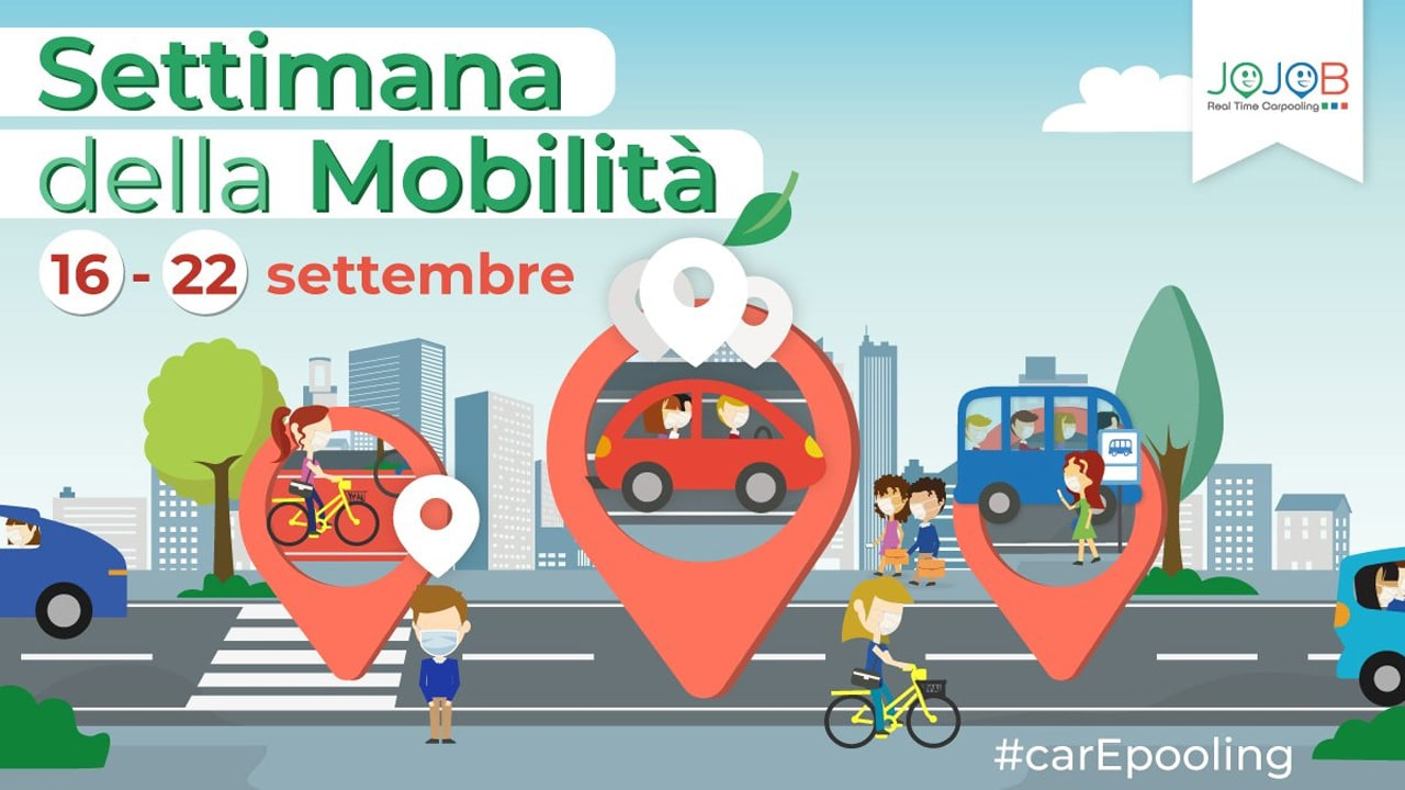 Settimana Europea della Mobilità, Jojob promuove il carpooling aziendale thumbnail