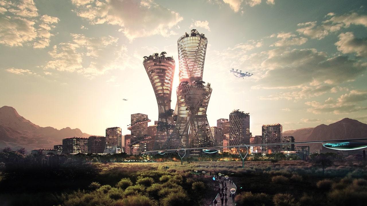 Un miliardario vuole costruire una città sostenibile in mezzo al deserto thumbnail
