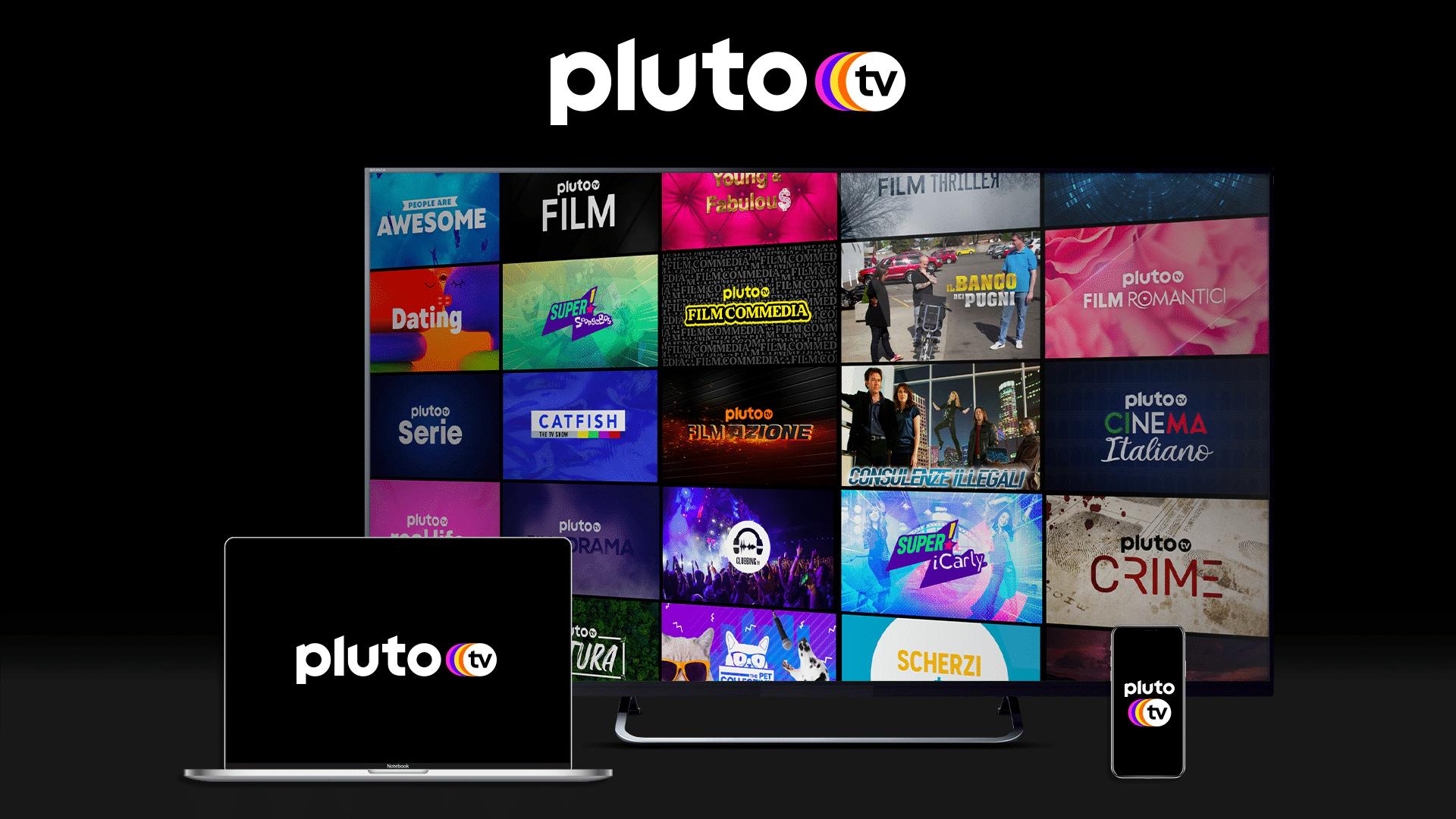 Si accende oggi PLUTO TV: ben 40 canali streaming gratuiti per tutti i gusti thumbnail