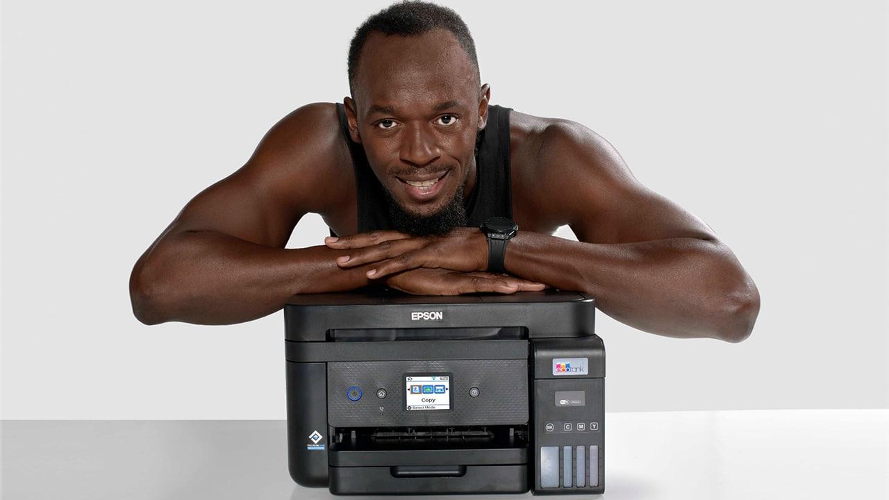 Epson e Usain Bolt insieme per promuovere la stampa senza cartucce thumbnail