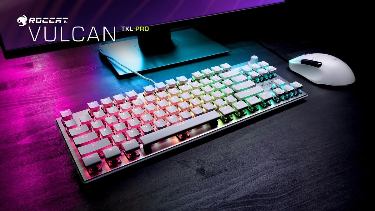 ROCCAT svela la nuova tastiera Vulcan TKL Pro in versione Arctic White thumbnail