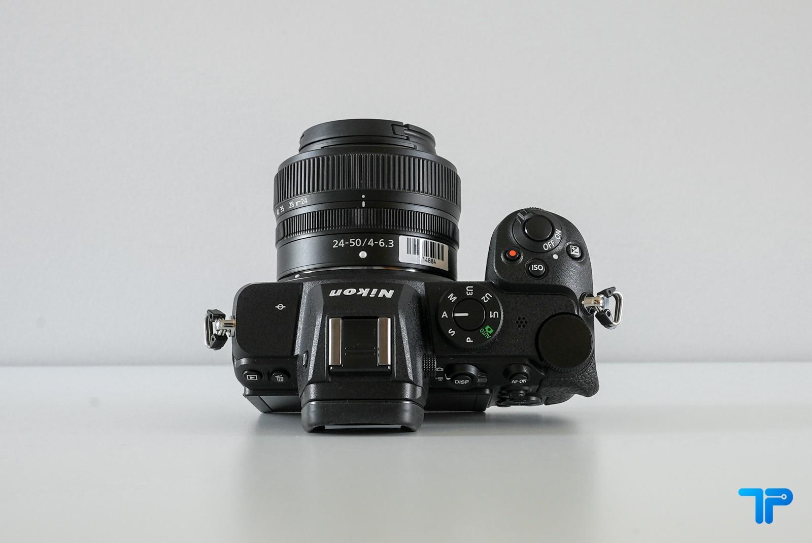 Nikon Z5: profilo superiore